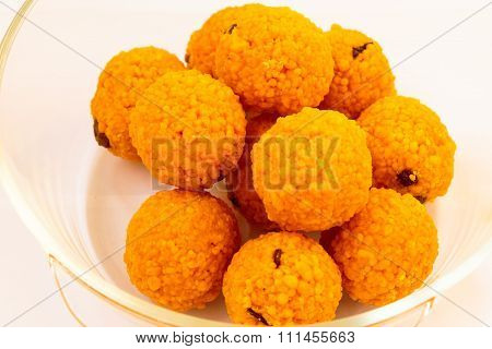 Boondi ka Ladoo ~ Indian sweets prepared during religious festivals as an offering to God