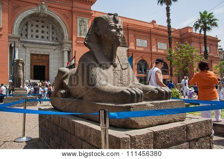 Sphinx At The Egyptian Museum