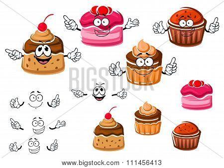 Chocolate cupcakes and caramel pudding