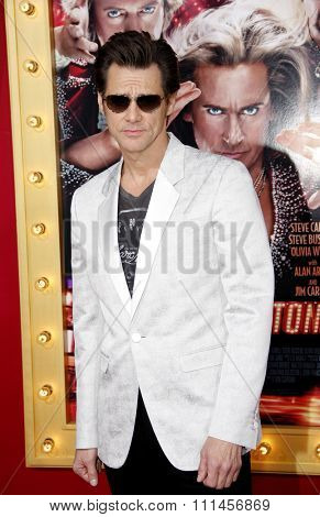 Jim Carrey at the Los Angeles premiere of 'The Incredible Burt Wonderstone' held at the TCL Chinese Theater in Los Angeles, United States, 11/03/2013.