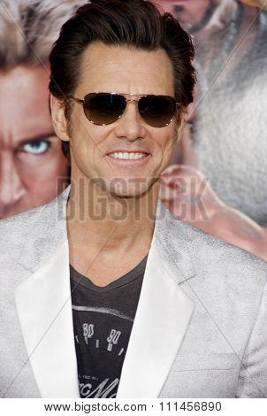 Jim Carrey at the Los Angeles premiere of 'The Incredible Burt Wonderstone' held at the TCL Chinese Theater in Los Angeles, United States, 11 03 2013.