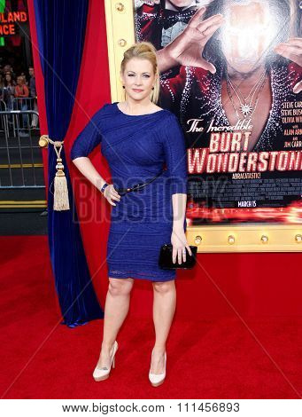 Melissa Joan Hart at the Los Angeles premiere of 'The Incredible Burt Wonderstone' held at the TCL Chinese Theater in Los Angeles, United States, 11/03/2013.