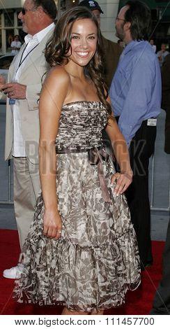 June 14, 2006. Jana Kramer attends the Los Angeles Premiere of