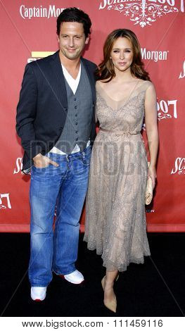Jennifer Love Hewitt and Ross McCall at the 2007 Spike TV's Scream Fest held at the Greek Theater in Hollywood on October 19, 2007.