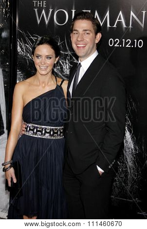 February 9, 2010. Emily Blunt and John Krasinski at the Los Angeles premiere of