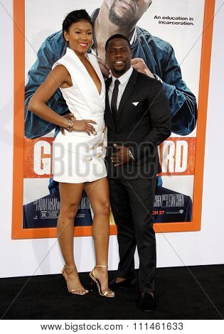 Kevin Hart and Aniko Parrish at the Los Angeles premiere of 'Get Hard' held at the TCL Chinese Theater IMAX in Hollywood, USA on March 25, 2015.