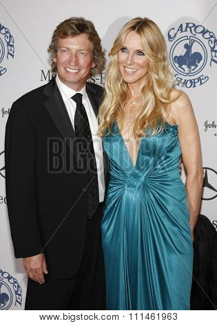 October 25, 2008. Nigel Lythgoe and Alana Stewart at the 30th Anniversary Carousel Of Hope Ball held at the Beverly Hilton Hotel, Beverly Hills.
