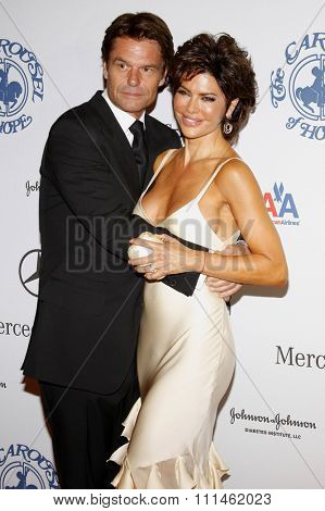 October 25, 2008. Lisa Rinna and Harry Hamlin at the 30th Anniversary Carousel Of Hope Ball held at the Beverly Hilton Hotel, Beverly Hills.