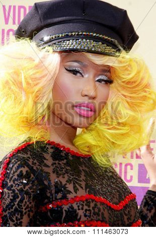 Nicki Minaj at the 2012 MTV Video Music Awards held at the Staples Center in Los Angeles, United States on September 6, 2012.