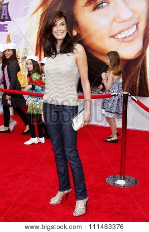 Teri Hatcher at the Los Angeles premiere of 'Hannah Montana The Movie' held at the El Capitan Theater in Hollywood on April 4, 2009.