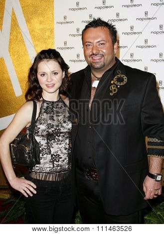 Sasha Cohen and Napoleon Perdis attend the Napoleon Perdis Hollywood Store Unveiling held at the Napoleon Perdis in Hollywood, California on May 1, 2007.