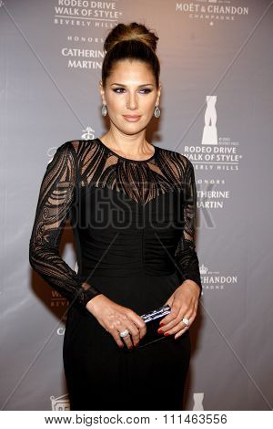 Daisy Fuentes at the Rodeo Drive Walk Of Style honors Catherine Martin held at the Greystone Mansion in Los Angeles, United States, 280214.