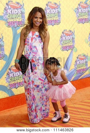 Christina Milian at the Nickelodeon's 27th Annual Kids' Choice Awards held at the USC Galen Center in Los Angeles on March 29, 2014 in Los Angeles, California.