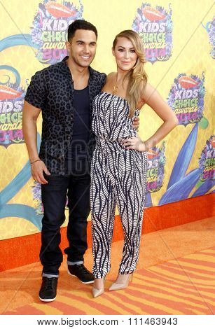 Carlos Pena-Vega and Alexa Vega at the Nickelodeon's 27th Annual Kids' Choice Awards held at the USC Galen Center in Los Angeles on March 29, 2014 in Los Angeles, California.