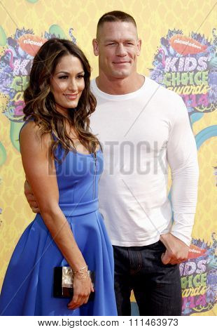 John Cena at the Nickelodeon's 27th Annual Kids' Choice Awards held at the USC Galen Center in Los Angeles on March 29, 2014 in Los Angeles, California.