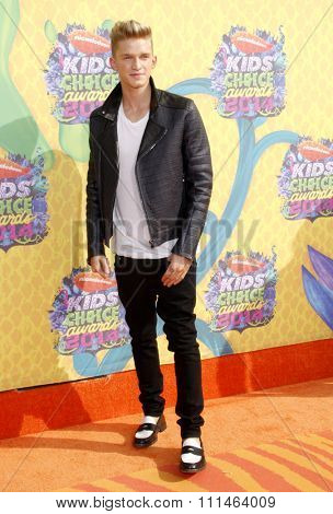 Cody Simpson at the Nickelodeon's 27th Annual Kids' Choice Awards held at the USC Galen Center in Los Angeles on March 29, 2014 in Los Angeles, California.