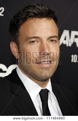 Ben Affleck at the Los Angeles premiere of 'Argo' held at the AMPAS Samuel Goldwyn Theater in Los Angeles on October 4, 2012.