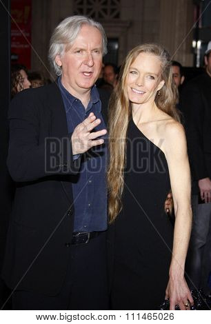 James Cameron and Suzy Amis at the Los Angeles premiere of 'Avatar' held at the Grauman's Chinese Theater in Hollywood on December 16, 2009.