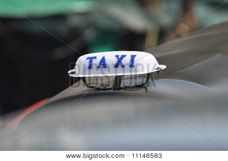 Taxi Sign Small Top Light Box