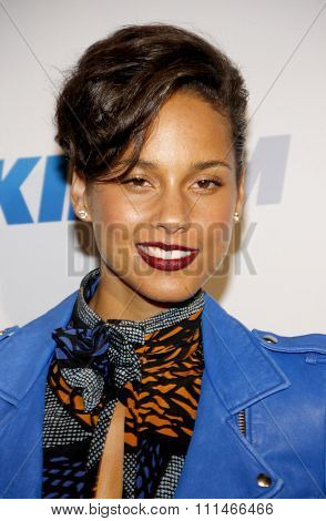 Alicia Keys at the KIIS FM's Jingle Ball 2012 held at the Nokia Theatre LA Live in Los Angeles on December 1, 2012.