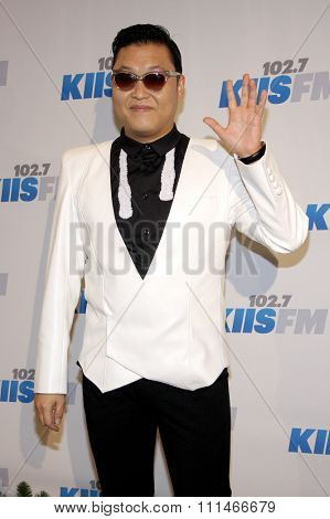PSY at the KIIS FM's Jingle Ball 2012 held at the Nokia Theatre LA Live in Los Angeles on December 1, 2012.