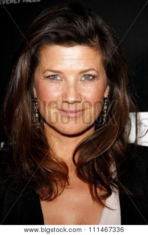 Daphne Zuniga at the Los Angeles Gay And Lesbian Center Homeless Youth Services Benefit held at the Sunset Tower in West Hollywood on January 23, 2012.