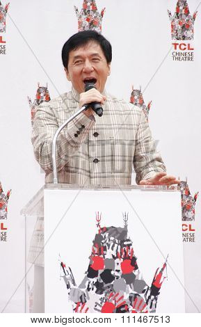 Jackie Chan at the Jackie Chan Hand and Foot Print Ceremony held at the TCL Chinese Theatre in Hollywood in Los Angeles, United States, 060613.