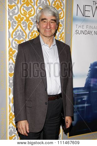 Sam Waterston at the Los Angeles premiere of HBO's 'The Newsroom' Season 3 held at the DGA Theatre in Los Angeles on November 4, 2014.