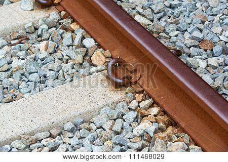 Closeup Of Railroad