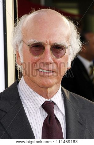 Larry David at the Los Angeles premiere of HBO's