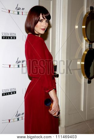 Mary Elizabeth Winstead at the Los Angeles premiere of 'Alex of Venice' held at the London hotel in West Hollywood, USA on April 8, 2015.