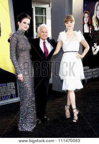 Eva Green and Bella Heathcote at the Los Angeles premiere of 'Dark Shadows' held at the Grauman's Chinese Theatre in Hollywood on May 7, 2012.