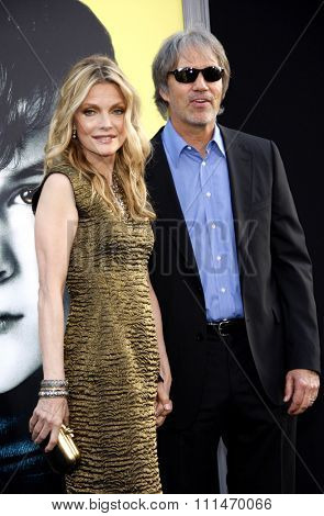Michelle Pfeiffer and David E. Kelley at the Los Angeles premiere of 'Dark Shadows' held at the Grauman's Chinese Theatre in Hollywood on May 7, 2012.