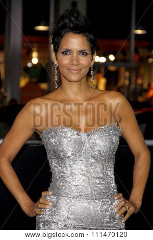 Halle Berry at the Los Angeles premiere of 'Cloud Atlas' held at the Grauman's Chinese Theatre in Hollywood on October 24, 2012.