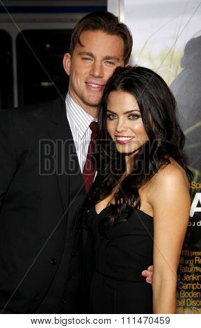 Channing Tatum and Jenna Dewan at the Los Angeles premiere of 'Dear John' held at the Grauman's Chinese Theatre in Hollywood on Februaty 1, 2010.