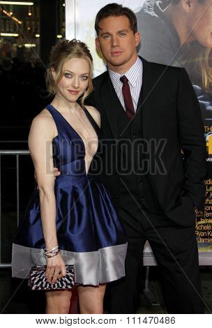 Amanda Seyfried and Channing Tatum at the Los Angeles premiere of 'Dear John' held at the Grauman's Chinese Theatre in Hollywood on Februaty 1, 2010.