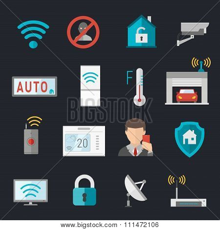 Remote home control system Smart House vector illustration
