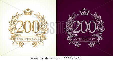 200 anniversary luxury logo.