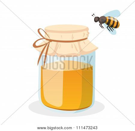 Honey bank vector illustrations
