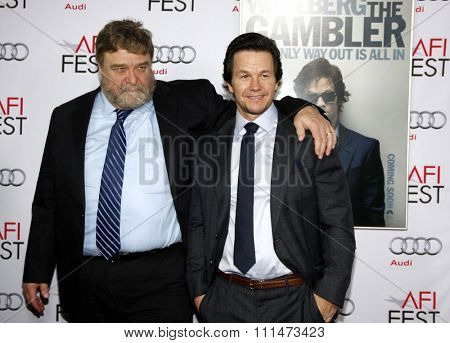 John Goodman and Mark Wahlberg at the AFI FEST 2014 Gala Premiere of 'The Gambler' held at the Dolby Theatre in Los Angeles on November 11, 2014 in Los Angeles, California.