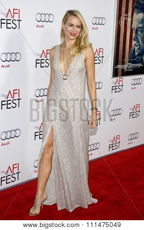 Naomi Watts at the AFI FEST 2011 Opening Night Gala World Premiere Of 'J. Edgar' held at the Grauman's Chinese Theatre in Hollywood on November 3, 2011.