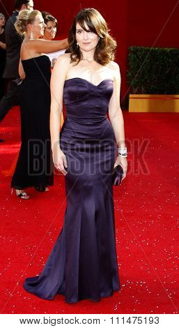 Tina Fey at the 60th Primetime EMMY Awards held at the Nokia Theater in Los Angeles, California, United States on September 21, 2008.