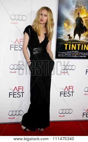Katrina Nova at the AFI FEST 2011 Closing Night Gala Screening Of 'TinTin' held at the Grauman's Chinese Theater in Hollywood on November 10, 2011.