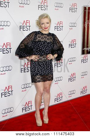 Francesca Eastwood at the AFI FEST 2011 Opening Night Gala World Premiere Of 'J. Edgar' held at the Grauman's Chinese Theatre in Hollywood on November 3, 2011.