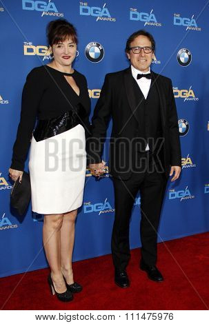 David O. Russell and Janet Grillo at the 66th Annual Directors Guild Of America Awards held at the Hyatt Regency Century Plaza Hotel in Los Angeles on January 25, 2014 in Los Angeles, California.