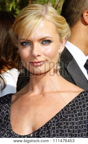 Jaime Pressly attends the 59th Annual Primetime Emmy Awards held at the Shrine Auditorium in Los Angeles, California, United States on September 16, 2007.