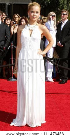 Marisa Coughlan attends the 59th Annual Primetime Emmy Awards held at the Shrine Auditorium in Los Angeles, California, United States on September 16, 2007.