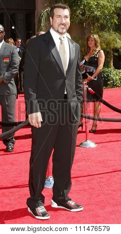Joey Fatone attends the 59th Annual Primetime Emmy Awards held at the Shrine Auditorium in Los Angeles, California, United States on September 16, 2007.