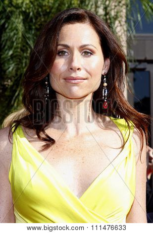 Minnie Driver attends the 59th Annual Primetime Emmy Awards held at the Shrine Auditorium in Los Angeles, California, United States on September 16, 2007.