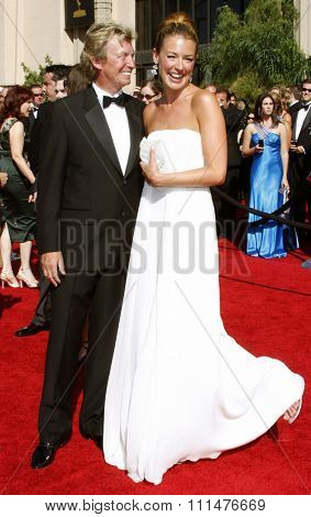 Nigel Lythgoe and Cat Deeley attend the 59th Annual Primetime Emmy Awards held at the Shrine Auditorium in Los Angeles, California, United States on September 16, 2007.